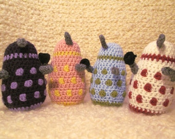 Dalek Plushie - Two Color Daleks