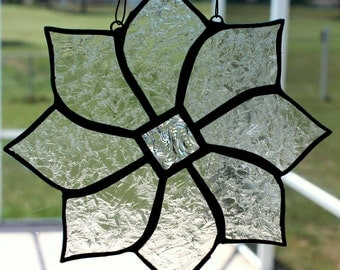 Clear Textured Glass Pinwheel