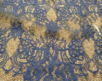 Chantilly Lace Fabric, Lace Fabric, Navy Lace, Blue Lace, Lace Material, Lace, Gown Material, Dress Fabric