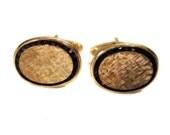 50s 14k Gold Garnet Cufflinks, Lucien Piccard Cufflinks, Solid Gold Cuff Links, Vintage Garnet Cuff Links, 1950s Gold Cufflinks, Luxury Gift