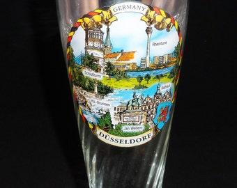 Vintage Germany Dusseldorf Glass Pilsner, Germany Pilsner, Souvenir Pilsner, Germany Souvenir Pilsner