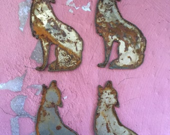 Howling At The Moon 4  Rusted Metal Coyotes  Home Decor Country Western Decor Rustic Southwest Decor Coyotes Farmhouse Ranch Decor Rustic