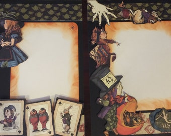 HALLOWEEN Two Pages Pre-Made Halloween Layouts-Two 12x12 Pages