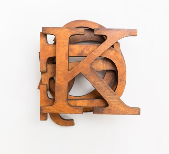 Items Similar To Vintage Wooden Letters Decorative Letters For Wall Alphabet Letters Custom