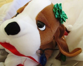Nuttin For Christmas Musical Lighted Doggy Plush collectible, Singing dog Nothing for Christmas  GREAT China Galore