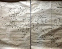 R. Blachford & Co. (Pub) 1825-28 Pair of Sea Charts, Maps. Orkney Islands, Scotland