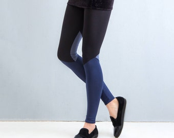 Grey Quartz - panelled leggings