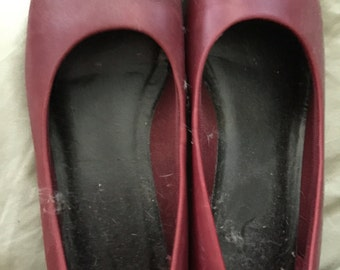 Lifestride burgundy Mary Janes size 9