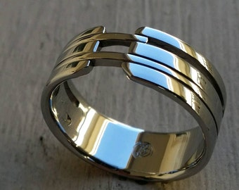 "08 ""VIADUCT"" handmade stainless steel ring (not casted)"