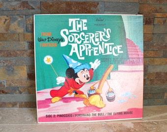 The Sorcerer's Apprentice record - Walt Disney Mickey Mouse The Sorcerer's Apprentice record album - Capitol Records 78 rpm - Pinocchio