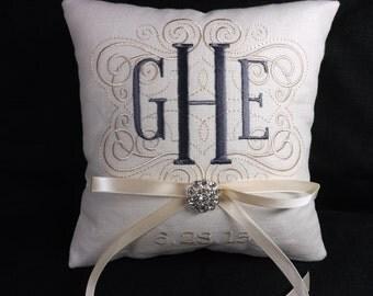 Monogrammed Ring Bearer Pillow ring pillow wedding pillow personalized pillow & Ring pillow wedding   Etsy pillowsntoast.com