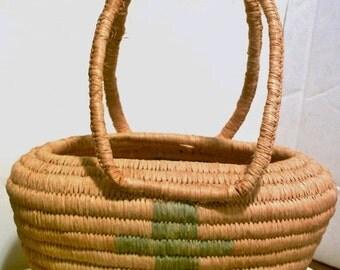 Vintage Basket, Crosses, Rare