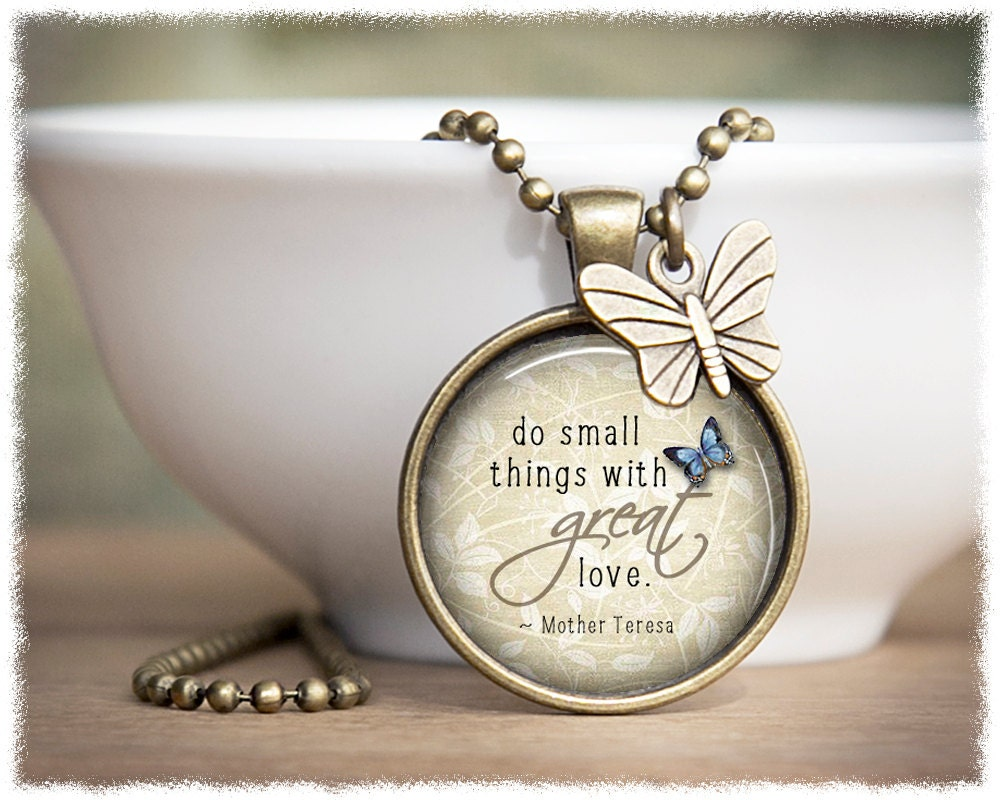 Inspirational Jewelry Mother Teresa Necklace Do Small