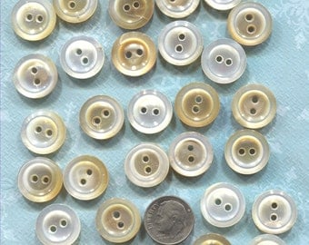 Group of 32 Vintage Mother of Pearl Buttons- (V120)