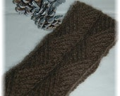 """Pure Qiviut (Muskox) Headband for Men or Women """"Hernando Island"""" - hand knit in attractive cable pattern MADE TO ORDER"""