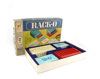 Vintage Rack-O game by Milton Bradley