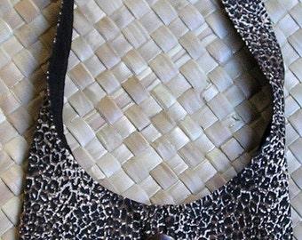 Handmade in Hawaii Mini Leopard Print Small Hobo Bag Lined, Pocket Inside
