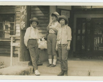 Vintage Snapshot Photo: Three Japanese Women, c1950s (68488)