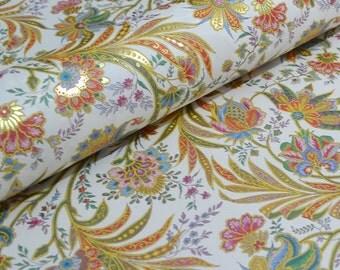 Italian Florentine Decorative Paper - Rich Floral Design by Kartos