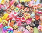 Assorted Mixed Surprise Grab Bag - 20 pcs | Kawaii Decoden Supplies | Resin Cabochons | Miniature Sweets | DIY Phone Case