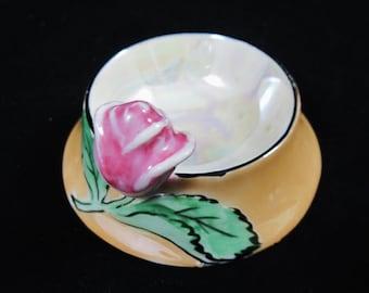 Noritake Lusterware Rose Asian Salt Dip, Salt Cellar, Morimura Nippon,  Hand Painted, Made in Japan