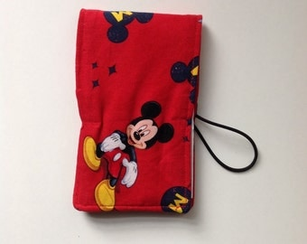 Mickey Mouse Crayon Roll, Notebook Pad, Doodle Pad, 3x5 Notebook Cover, Coloring Book, Childrens Coloring Gift, Mickey party favors