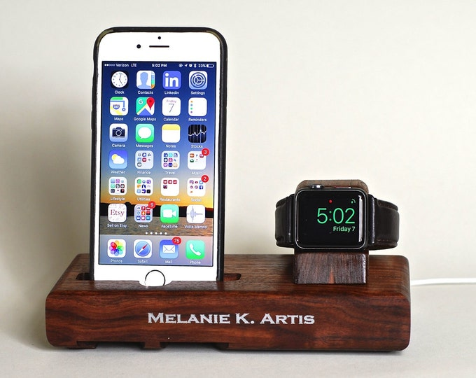 The EICHLER Tandem in WALNUT – Fits all iPhone Models and Watches - Leave your Case on - Boosts the Sound