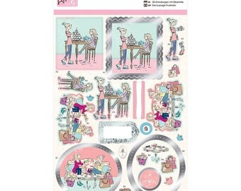 TIME for TEA - DECoUPAGE Pack By Anita's  - Make many Craft Cards- Die Cuts, Papers, Tags
