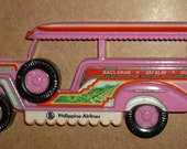 Free shipping! Philippine Airlines Jeepney cast metal 1982