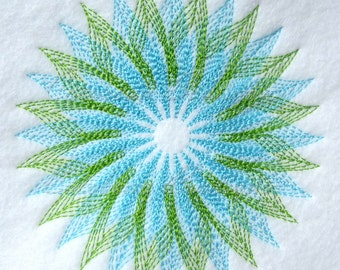 Flower 2100 Quilt Block-Embroidery-Instant download