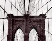 Brooklyn Bridge - New York photography, NYC artwork, fine art photography, black and white, New York print, NYC wall art