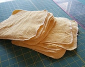 Yellow Terry cotton washcloths