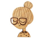 CHARACTER : Girl in Bun Brooch