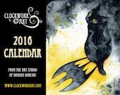 2016 Clockwork Art Calendar - Steampunk, Black Cats