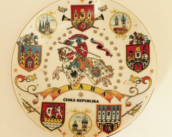 Czech Republic Souvenir Plate  Ceska Republica Hanging Plate Praha