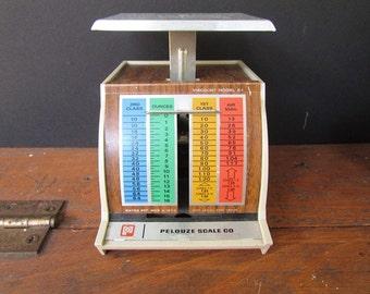 Small Postal Scale Vintage 1974 Pelouze Plastic Scale