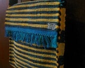 Nicaraguan Rag Rug Hip Bag in Bumble Bee Bands of Yellow and Black