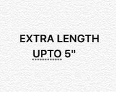 Add Length to Robe - upto 5 inches extra length
