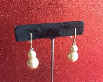 Natural Look Costume Pearl Vintage Earrings, Sarah Coventry