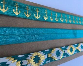 Jade trio elastic headband set