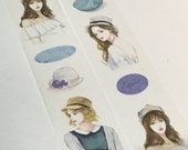 1 Roll Limited Edition Washi Tape: Girls With Hats