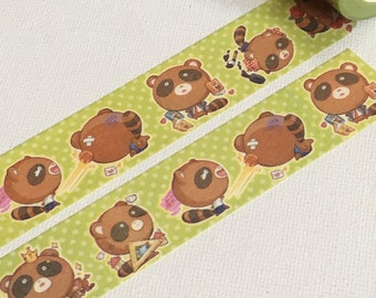 1 Roll of Limited Edition Washi Tape:  Raccoon