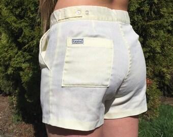 "Vintage 60's High Waist Tennis Shorts by Catalina 32"" Waist"