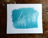 Watercolor Wedding Table Number Card, Calligraphy