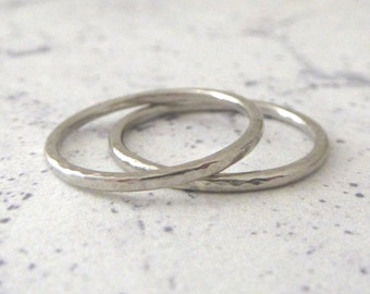 Palladium band ring - 1.5mm - Hammered or Smooth - Elegant palladium wedding ring