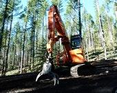 Shovel- Logging Equipment, DIGITAL DOWNLOAD, logging decor, man cave, heavy equipment decor, forest tool decor, fine art photography