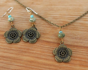 Cherry Blossom Necklace Set