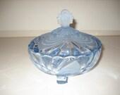 Cambridge Glass Alpine Blue Caprice Candy Dish