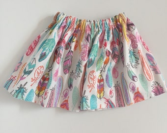 Bright feather Baby Skirt...bright feather Toddler Skirt... Baby Skirt.. Toddler Skirt.... Arrow s