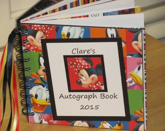 SALE - Disney Autograph Book with Choice of Characters